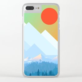 Mountains XVII Clear iPhone Case
