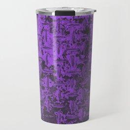 Industrial Metal Texture Purple Travel Mug