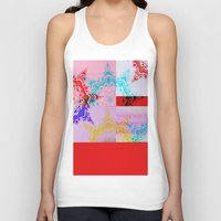 glitch Tank Tops featuring Glitch  by Laina Catherine