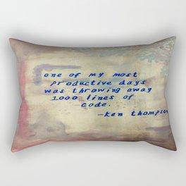 I love to code! Rectangular Pillow
