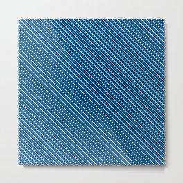 Snorkel Blue Stripe Metal Print