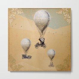 Steampunk Balloon Race Metal Print