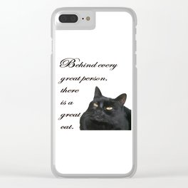 Behind Every Great Person There Is A Great Cat Clear iPhone Case