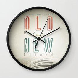 Poster (book & friend) Wall Clock