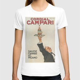 Vintage 1920 Cordial Campari Advertisement by Luigi Caldanzano T-shirt