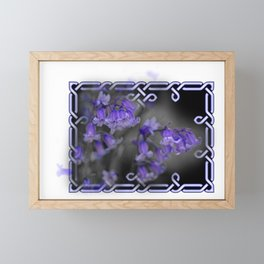 Bluebells in Celtic knot frame Framed Mini Art Print