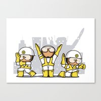 beastie boys Canvas Prints featuring Beastie boys tribute by rodouyeha