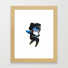 Fuzzy Chibi Luc (Expression 1)  Framed Art Print