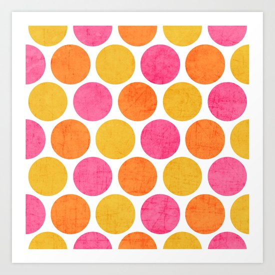 summer polka dots Art Print