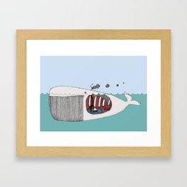 I valfiskens mage Framed Art Print