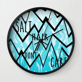 Salt Hair Don't Care Wall Clock