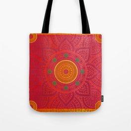 """""""Fuchsia and Gold Mandala"""" Tote Bag"""