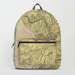 Old map Brazil, Uruguay, Paraguay and Guyana Backpack