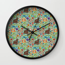 Candy Pattern Wall Clock