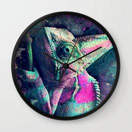 chameleon #chameleon #animals Wall Clock