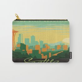 Vintage poster - Seattle Carry-All Pouch