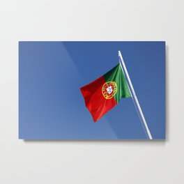 Portuguese national flag Metal Print