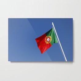 Portuguese national flag Metal Print