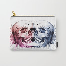 Conjoined Skull Carry-All Pouch