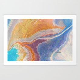 When Oceans Meet Art Print
