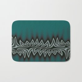 Fractal Tribal Art in Pacific Teal Bath Mat