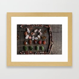 Tribal treasures Framed Art Print