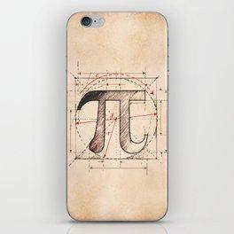 Pi Symbol Sketch iPhone Skin