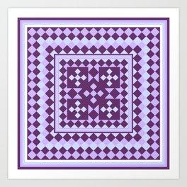 Lavender Patchwork Quilt Art Print