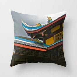 Temple Rooftop Throw Pillow