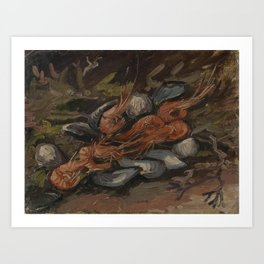 Prawns and Mussels Art Print