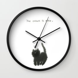The crown is mine. Wall Clock