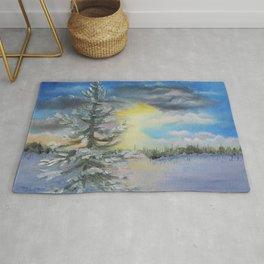 Michigan Pines at Sunset Rug