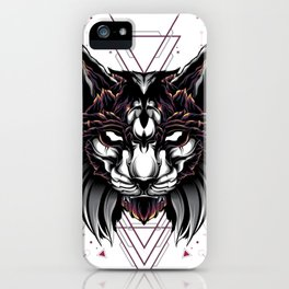 Lynx Cat sacred geometry iPhone Case