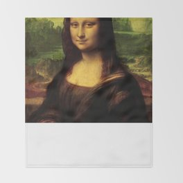 Mona Lisa Painting Throw Blanket