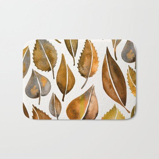 Rusty Leaves Bath Mat