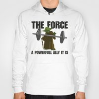 fitness Hoodies featuring Force Fitness by Niels Revers Design