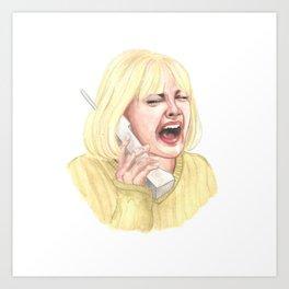 Casey Scream Art Print