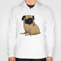 pug Hoodies featuring Pug by Sandra Rivas