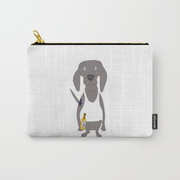 Weim USA Grey Ghost Weimaraner Dog Hand-painted Pet Drawing Carry-All Pouch