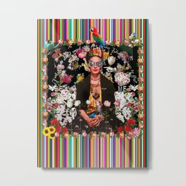 Frida OTT Kahlo You Are Too Much Metal Print