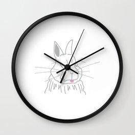 Cheeky Rabbit Wall Clock
