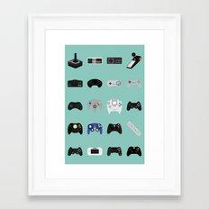 Console Evolution Framed Art Print