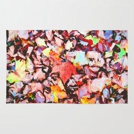 Maple foliage texture Rug