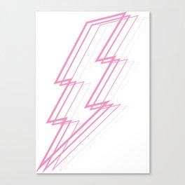 Pink Lightning Bolt Canvas Print