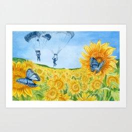 Blue Butterflies Art Print