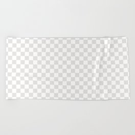 Checker (Platinum/White) Beach Towel
