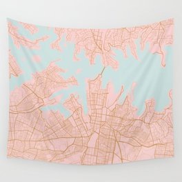 Sydney map Wall Tapestry