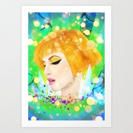 Digital Painting - Hayley Williams Art Print