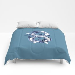 Eight with blue floral Comforters
