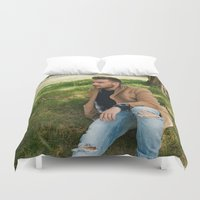 liam payne Duvet Covers featuring Liam Payne by behindthenoise